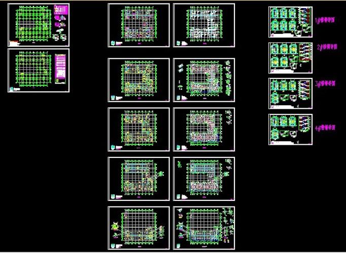 建筑公司组织结构图模板