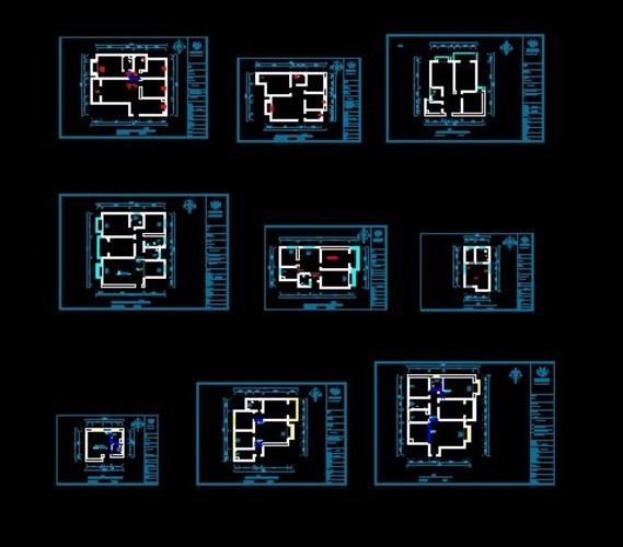 住宅户型设计--小高层-塔楼点式--上海--静安晶华园