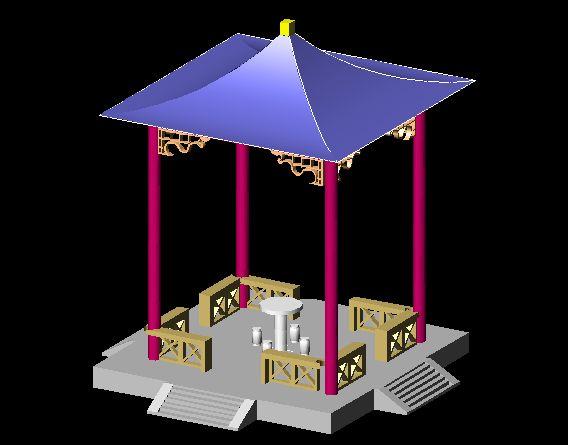 亭子模型制作图纸