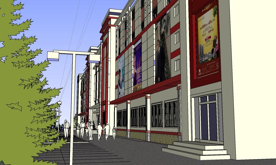 商店设计商店的设计临街房屋设计图临街商业停车场设计临街商铺设计图