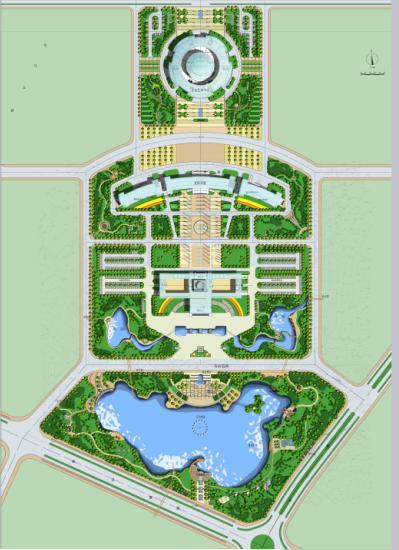 广场设计效果图 广场平面效果图 小区广场设计效果图 广场景观小品