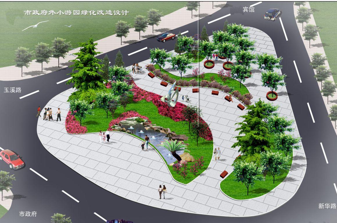 街头游园设计手绘