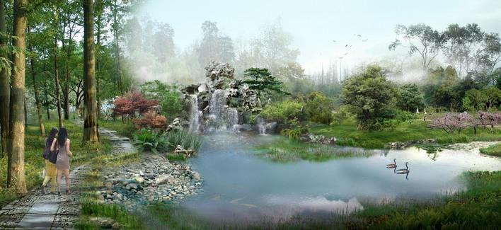 敬请指教            相关专题:山水别墅 假山水景观 假山水池景观