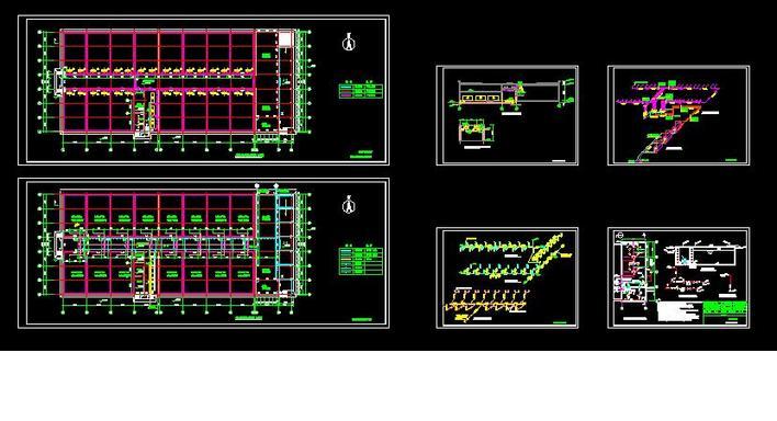 冷库 水专业图纸:含压缩机冷凝器-冷却塔