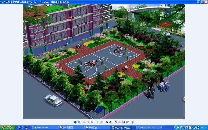 图纸 园林设计图  学校绿化平面图   一个小学校园图  相关专题:学校