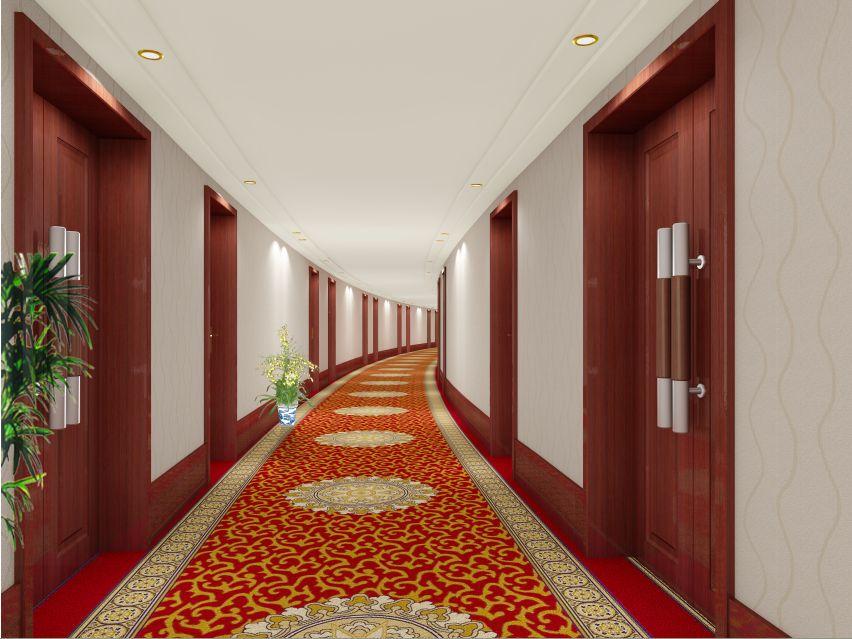宾馆走廊效果图