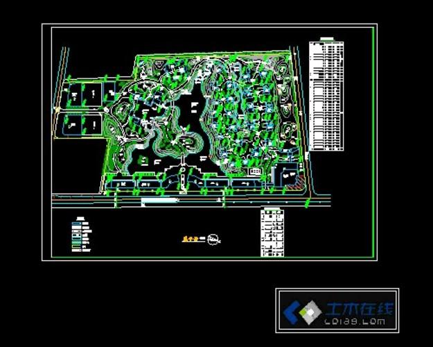 植物园规划总平面图   说明:一个大型植物园的规划设计总平面图,布局