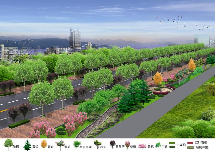小区绿化节点透视图