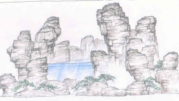 手绘图 相关专题:手绘假山平面图手绘牌坊手绘总图园林手绘景观手绘