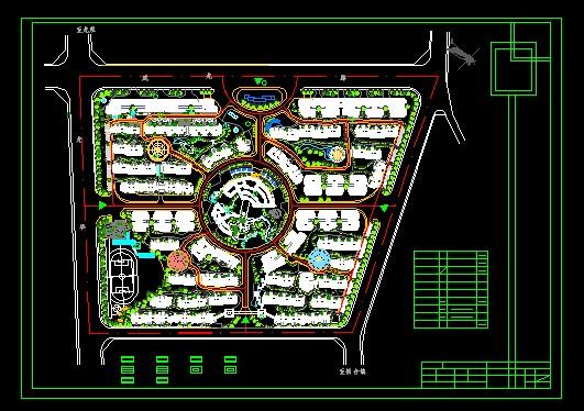 小区规划设计总平面图