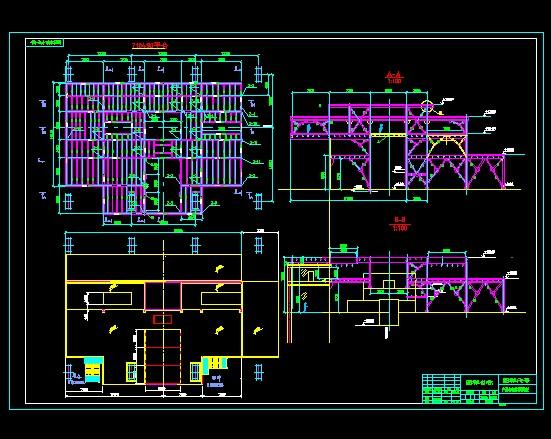 某地一层钢结构厂房钢构部分结构施工图纸