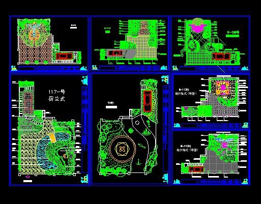 园林苗圃规划图手绘