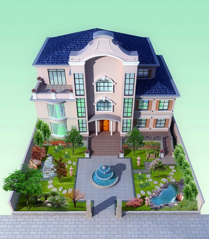 图纸 园林设计图 别墅景观  上传时间:2009-05-08 所属分类:园林设计