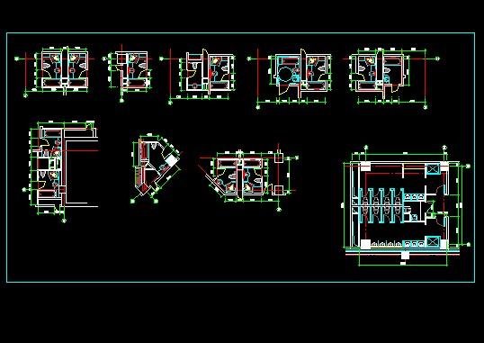 资料卫生间cad风格图立面图中式标准门CAD图图片