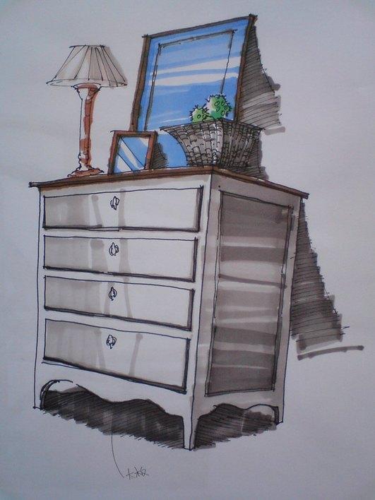 马克笔手绘单体家具.zip