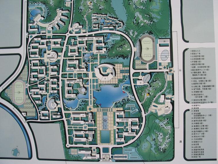 上海水产大学临港校区校园规划设计 深圳大学校园南区规划设计总平面图片