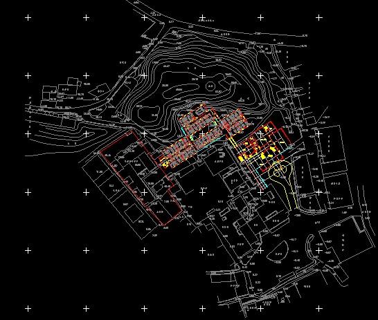 某国际金融贸易开发区住宅小区规划图及附地形图