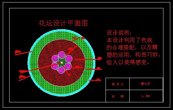 花坛平面设计图