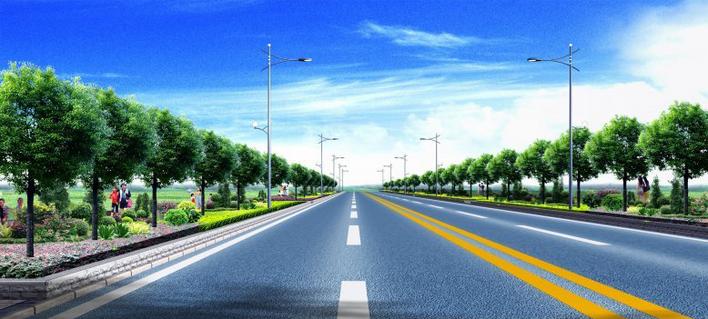 高速公路某服务区设计方案平面图效果图 大尺寸高速公路服务区,加油站