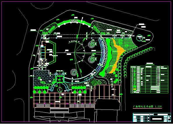 广场施工图园林道路施工图园林结构施工图园林施工图