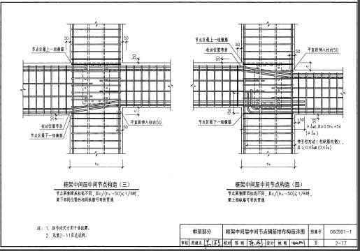 06G901 1混凝土结构施工图钢筋排布规则与构造详图
