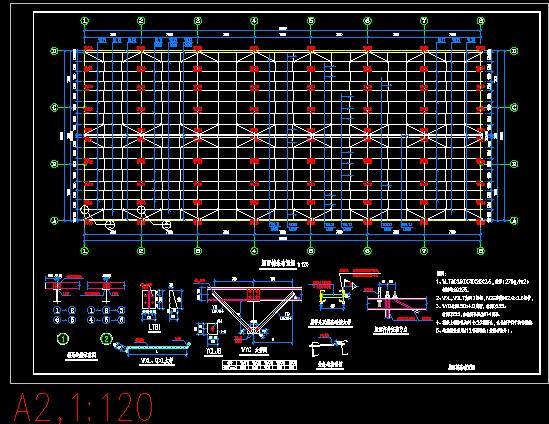 某门式刚架结构篮球馆建筑设计施工图