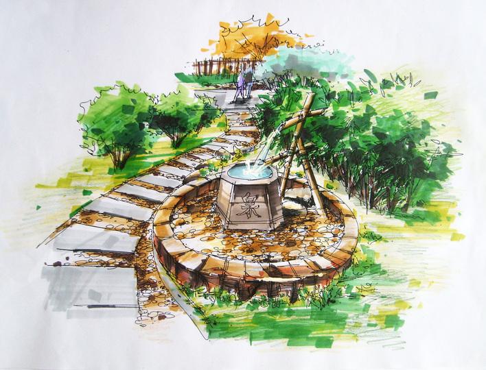 图纸 园林设计图 手绘景观小品  (0人评价)|                 | 207次