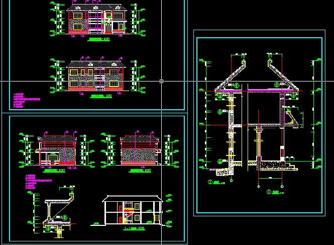 图纸 建筑图纸  别墅图纸  别墅设计图  农村别墅图纸    别墅建筑