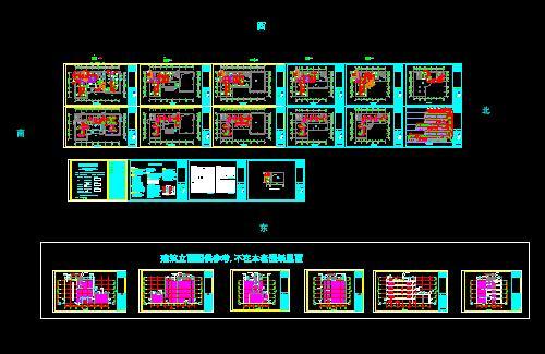 深圳某花园商业中心分机盘管加全空气系统空调暖通设计图 某文体中心