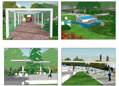 青岛大学景观设计_cad图纸下载-土木在线