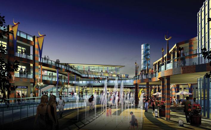商业街效果图图片