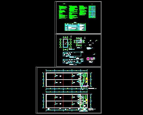 潜水泵安装大样图; 详细的消防水池和水泵房大样图;