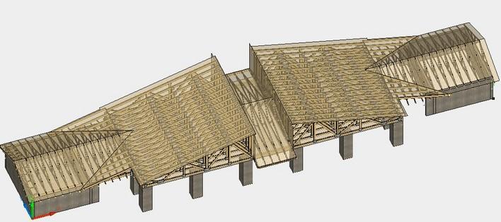 维卡木屋顶效果图; 桁架结构效果图图片下载分享; 木屋顶 木桁架