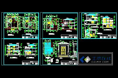 建筑施工一百平方,两房一厅的设计图展示