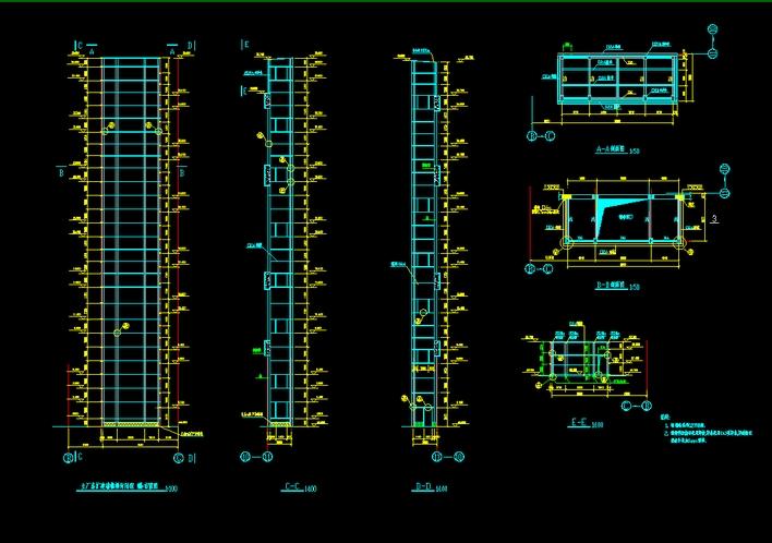 电梯钢结构支架结构图