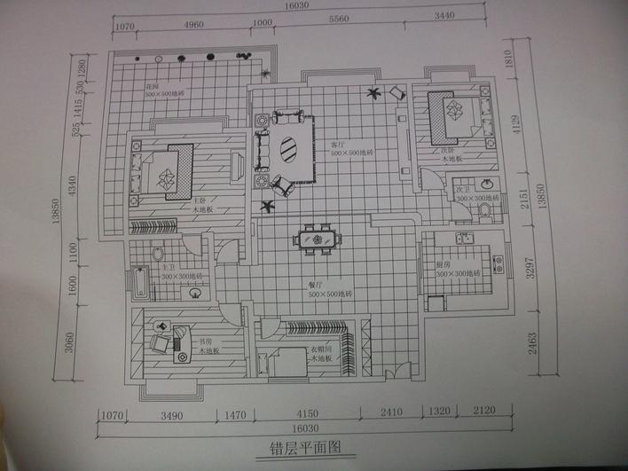 错层家装平面图_cad图纸下载-土木在线