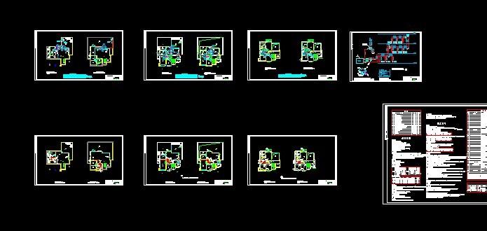 别墅全套施工图(含建筑,结构,水,电,附效果图) 西餐厅照明电施平面图