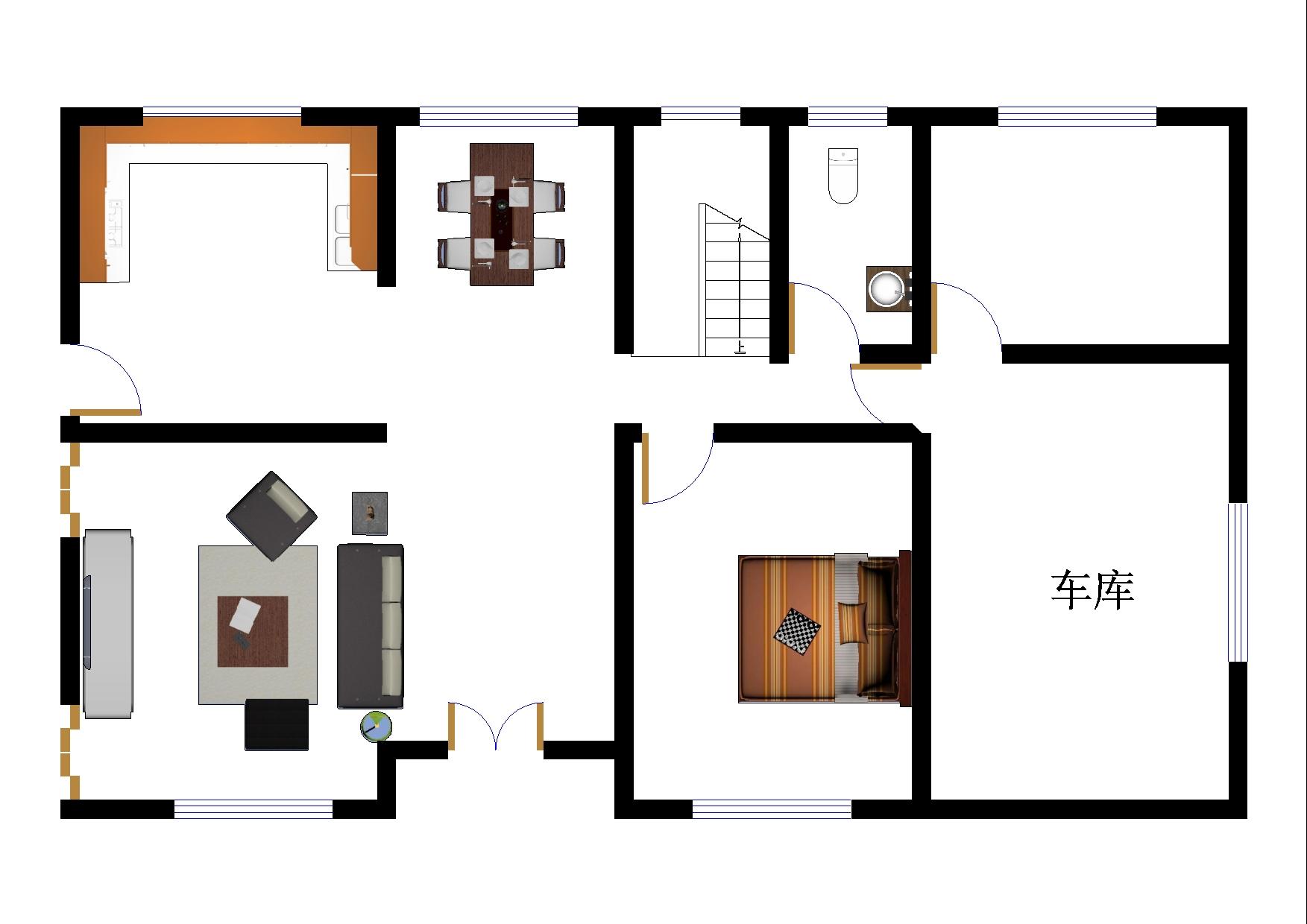 建筑,建筑,建筑; 一层平面图 (1753x1240); 自建房的户型平面图设计图片