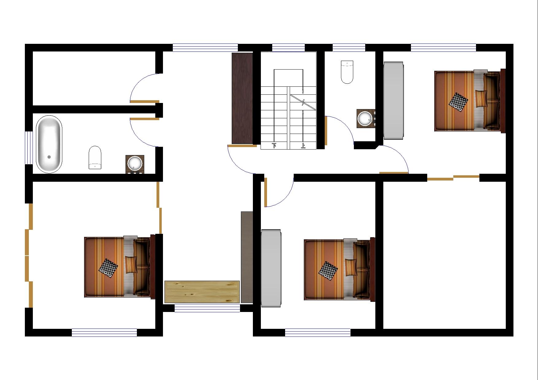 求120平米农村自建房平面图图片