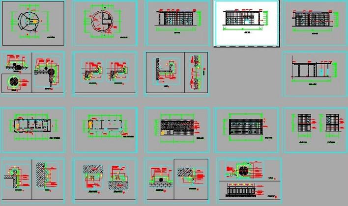 图纸铝塑板竣工图_cad外墙下载一四合连接件cad图纸图片
