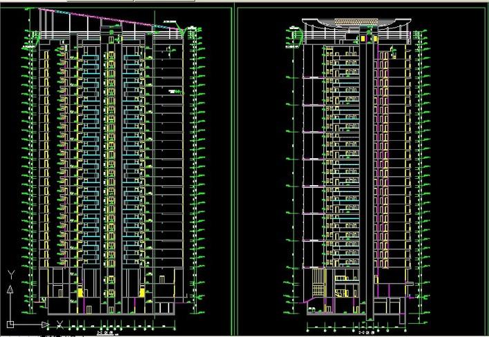 投稿网友:   (已上传图纸   套)   整套椭圆形高层住宅图纸高清图片