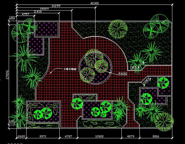 学校小游园平面设计图展示