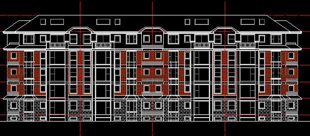 图纸 建筑图纸 欧式住宅立面图  上传时间:2010-02-03 所属分类:建筑