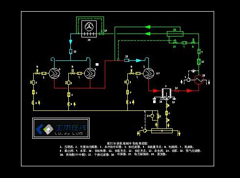 制冷系统工作原理图 冷库制冷系统原理图