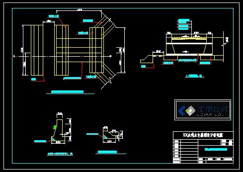 结构施工图(路基钢筋砼护栏变更设计图) 某22米垮普通钢筋砼简支空心