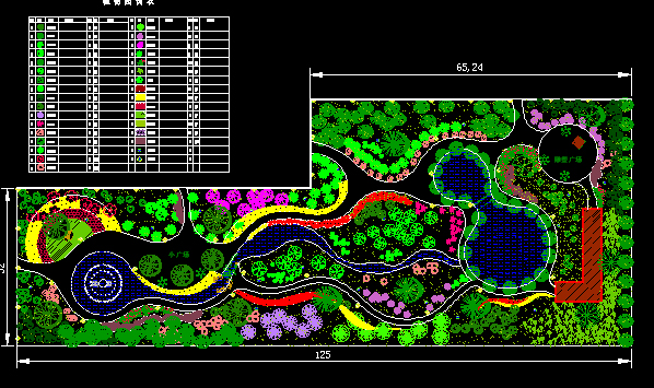 图纸 园林设计图 园林绿化及施工 广场游园绿化设计图 平煤绿化平面图