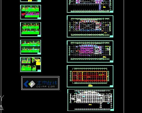 某汽车站电气设计图—强电_土木在线; 汽车检测站设计图图片大全下载图片