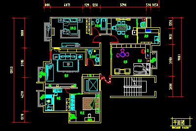 装修家装平面布置图家装电路布置图家装水电布置图