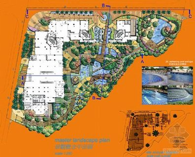 园林景观总平面图 园林cad总平面图 园林设计总平面图 园林施工总平面