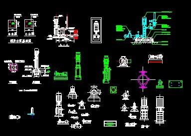 各种水泵外形图_cad图纸下载图纸tc1-图片